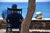 Urlauber in Santorin - Griechenland — Stock Photo