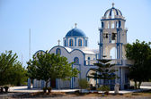 Kapelle in Kamari - Santorin - Griechenland — Стоковое фото