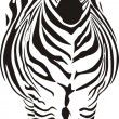Zebra - black and zero - Stock Vector