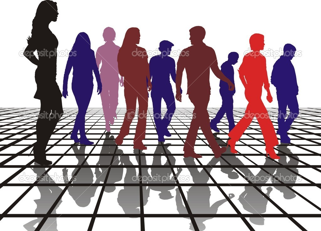 Standing out from the group — Stock Vector #5675075