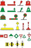 Traffic Signs river navigation — Stock Vector