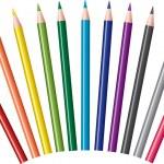 jeu de crayons de couleur vectorielles — Vecteur