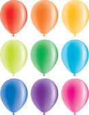 Set of colorful balloons — Stock Vector
