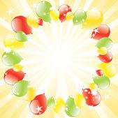 Balony uroczysty wektor i wybuch światło — Wektor stockowy