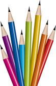 Vector set of lead pencils — Stock Vector