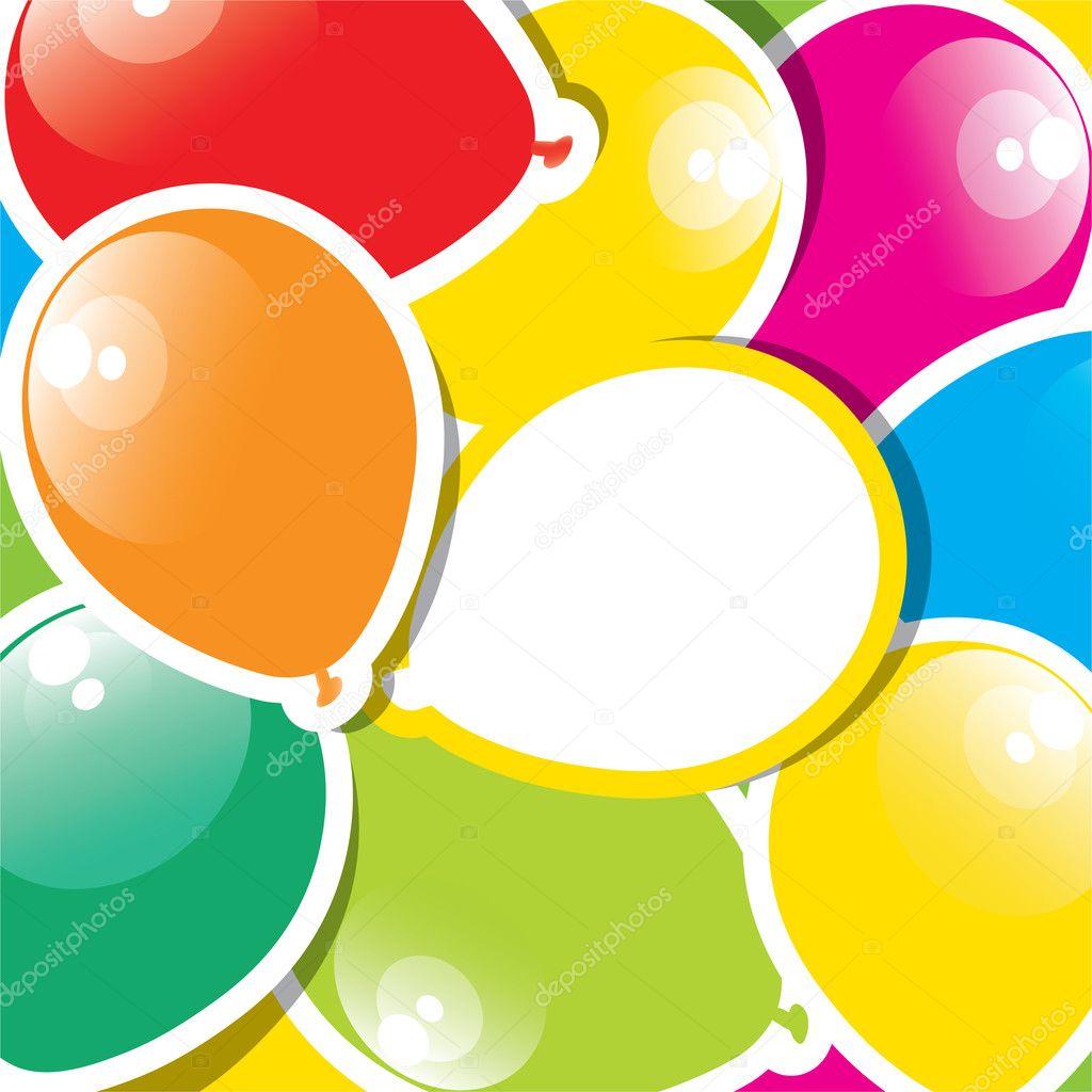彩色的纸气球