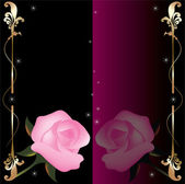Vector abstract background with pink roses — Stock Vector