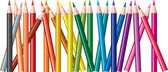 Vector set of colored pencils — Stock Vector