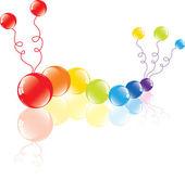 Kleurrijke ballonnen op de verdieping — Stockvector