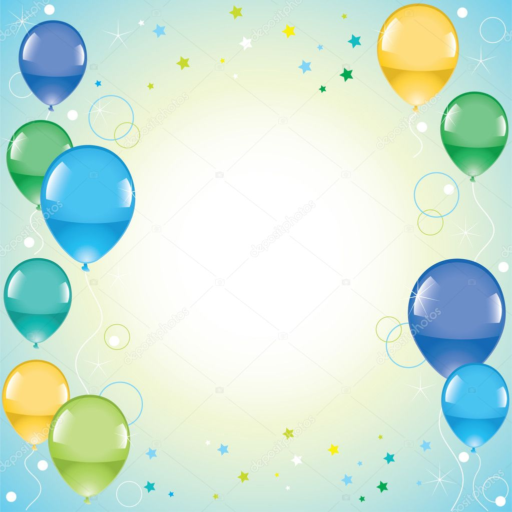 Vector festive colorful balloons   Stock Vector #6641953
