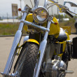 Yellow american motorbike - Stock Photo