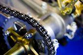 链传动-滚子链和链轮 — 图库照片