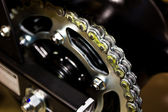 Chain drive - roller chain and sprocket — Stock Photo