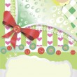Vettoriale Stock : Baby greetings card