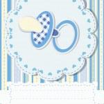 Baby greetings card — Stock Vector