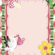 Baby Greeting Card — Stock Vector #5444036