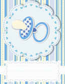 Baby greetings card — Vector de stock
