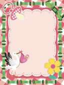 Baby Greeting Card — Vecteur