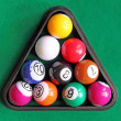 Stock Photo: Snooker balls
