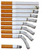 Cigarette phases — Stock Photo