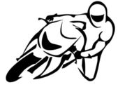 Motorcycle rider — Stock Vector