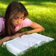 Young girl with the book — Stock Photo