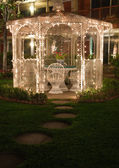 Gazebo with little white lights — Stock Photo