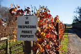 No Trespassing Sign — Stock Photo