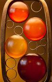 Amber Bubble Lamp — Stock Photo