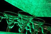 Green Margarita Glasses — Stock Photo