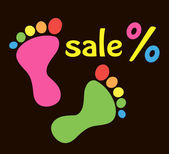Advertising discounts in the shop — Stock Vector
