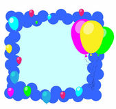 Frame with balls for congratulations — Stock Vector