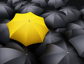 Lots of umbrellas — Stock Photo