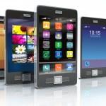 Stock of touchscreen phones — Stock Photo