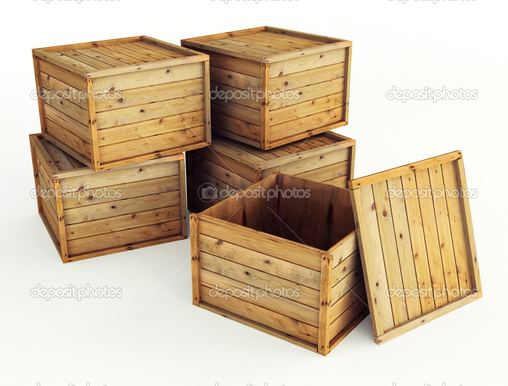 Several wooden crates stock photo bioraven 5573052 for Where to buy old crates