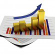 Business graph 3d — Stock Photo #5661376