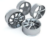 Car disk wheels — Stock Photo