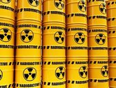 Toxic waste barrels — Stock Photo