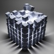 Abstract cubes - Foto Stock