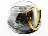 Money and protection — Stock Photo