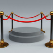 Gold stanchions — Stock Photo