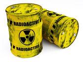 Radioactive barrels — Stock Photo