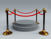 Gold stanchions — Foto de Stock