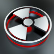 Radioactivity symbol — Stock Photo