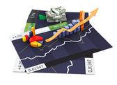 3d gráfico de negócios — Fotografia Stock