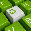 Green recycling keyboard — Stock fotografie