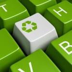 Green recycling keyboard — Stock Photo