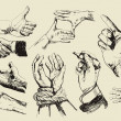 Hands collection — Stockvektor