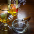 Cigar And Cognac — Stock Photo #6158469