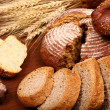 Bread assortment background — Stock Photo